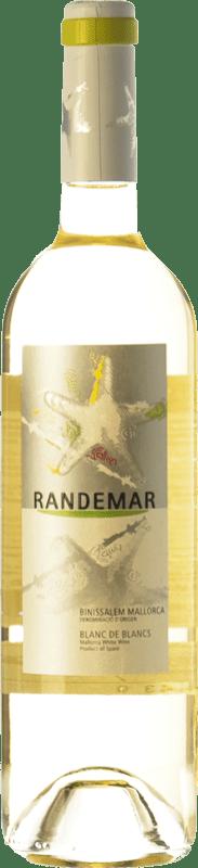 7,95 € Envío gratis | Vino blanco Tianna Negre Randemar Blanc D.O. Binissalem Islas Baleares España Moscatel, Chardonnay, Pensal Blanca Botella 75 cl