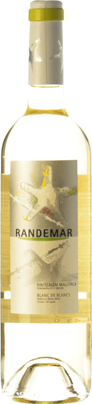 7,95 € Free Shipping | White wine Tianna Negre Randemar Blanc D.O. Binissalem Balearic Islands Spain Muscatel, Chardonnay, Pensal White Bottle 75 cl