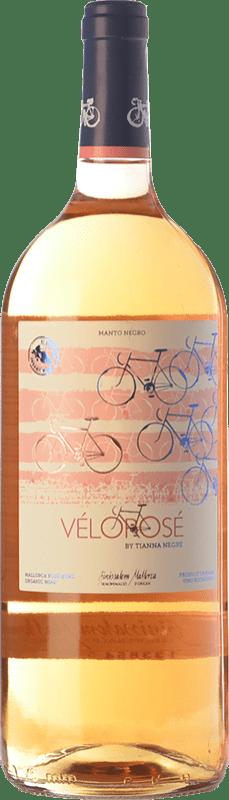 13,95 € Free Shipping | Rosé wine Tianna Negre Vélorosé D.O. Binissalem Balearic Islands Spain Mantonegro Magnum Bottle 1,5 L
