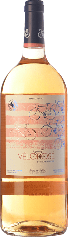 13,95 € Envío gratis | Vino rosado Tianna Negre Vélorosé D.O. Binissalem Islas Baleares España Mantonegro Botella Mágnum 1,5 L