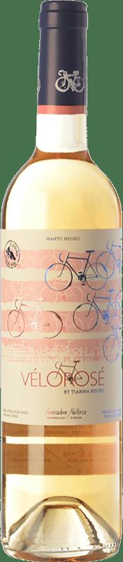 16,95 € Envío gratis | Vino rosado Tianna Negre Vélorosé D.O. Binissalem Islas Baleares España Mantonegro Botella 75 cl