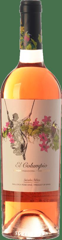 12,95 € Free Shipping | Rosé wine Tianna Negre Ses Nines El Columpio Rosat D.O. Binissalem Balearic Islands Spain Syrah, Mantonegro Bottle 75 cl