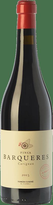 24,95 € 免费送货 | 红酒 Tomàs Cusiné Finca Barqueres Crianza D.O. Costers del Segre 加泰罗尼亚 西班牙 Carignan 瓶子 75 cl