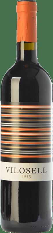 27,95 € Envío gratis | Vino tinto Tomàs Cusiné Vilosell Joven D.O. Costers del Segre Cataluña España Tempranillo, Merlot, Syrah, Garnacha, Cabernet Sauvignon Botella Mágnum 1,5 L
