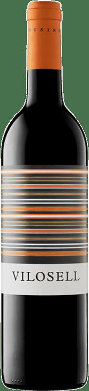 12,95 € Free Shipping | Red wine Tomàs Cusiné Vilosell Crianza D.O. Costers del Segre Catalonia Spain Tempranillo, Merlot, Syrah, Grenache, Cabernet Sauvignon Bottle 75 cl