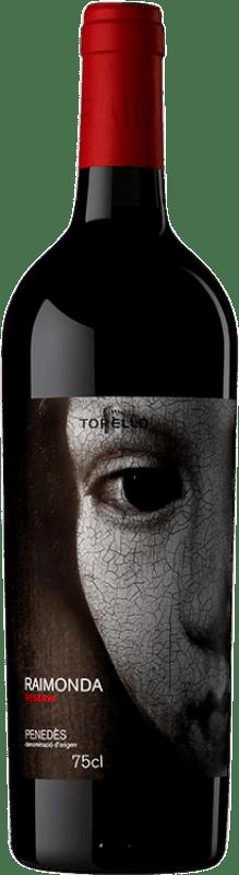 16,95 € Envoi gratuit | Vin rouge Torelló Raimonda Reserva D.O. Penedès Catalogne Espagne Tempranillo, Merlot, Cabernet Sauvignon Bouteille 75 cl