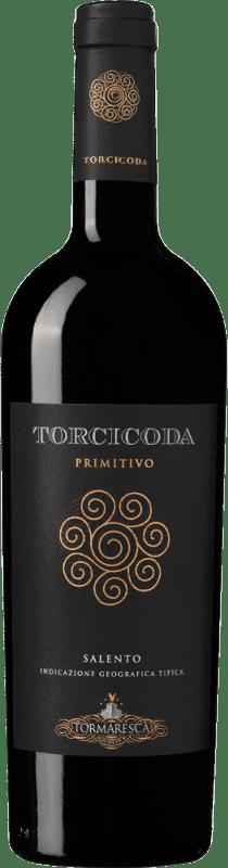 18,95 € Envoi gratuit | Vin rouge Tormaresca Torcicoda I.G.T. Salento Campanie Italie Primitivo Bouteille 75 cl