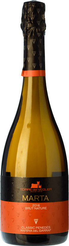 19,95 € Free Shipping | White sparkling Torre del Veguer Marta Brut Nature D.O. Penedès Catalonia Spain Muscatel Small Grain Bottle 75 cl