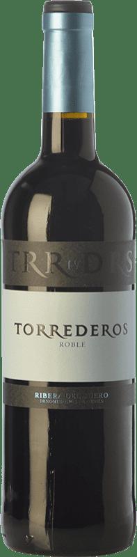8,95 € | Red wine Torrederos Roble D.O. Ribera del Duero Castilla y León Spain Tempranillo Bottle 75 cl