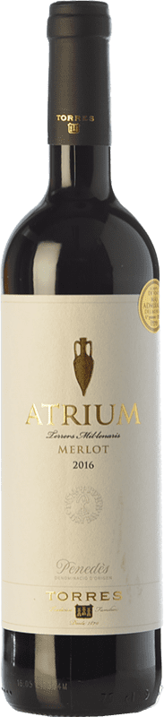 9,95 € Free Shipping | Red wine Torres Atrium Joven D.O. Penedès Catalonia Spain Merlot Bottle 75 cl