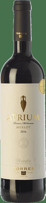 9,95 € 免费送货 | 红酒 Torres Atrium Joven D.O. Penedès 加泰罗尼亚 西班牙 Merlot 瓶子 75 cl