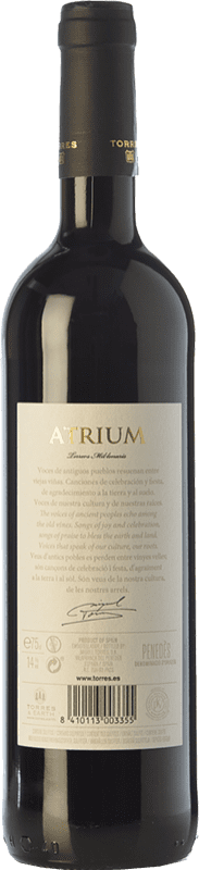 10,95 € Free Shipping | Red wine Torres Atrium Joven D.O. Penedès Catalonia Spain Merlot Bottle 75 cl