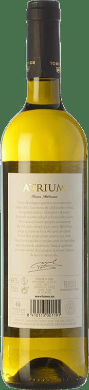 11,95 € Free Shipping | White wine Torres Atrium Chardonnay Crianza D.O. Penedès Catalonia Spain Chardonnay, Parellada Bottle 75 cl