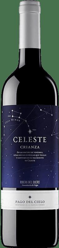 16,95 € 免费送货 | 红酒 Torres Celeste Crianza D.O. Ribera del Duero 卡斯蒂利亚莱昂 西班牙 Tempranillo 瓶子 75 cl