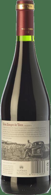 16,95 € Free Shipping   Red wine Torres Gran Sangre de Toro Crianza D.O. Catalunya Catalonia Spain Syrah, Grenache, Carignan Bottle 75 cl