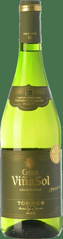 13,95 € 免费送货 | 白酒 Torres Gran Viña Sol Crianza D.O. Penedès 加泰罗尼亚 西班牙 Chardonnay, Parellada 瓶子 75 cl