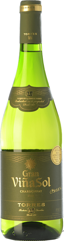 11,95 € | White wine Torres Gran Viña Sol Crianza D.O. Penedès Catalonia Spain Chardonnay, Parellada Bottle 75 cl
