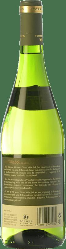 11,95 € Free Shipping | White wine Torres Gran Viña Sol Crianza D.O. Penedès Catalonia Spain Chardonnay, Parellada Bottle 75 cl
