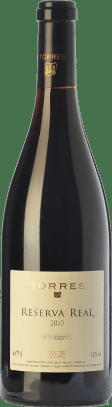 218,95 € | Red wine Torres Real Reserva D.O. Penedès Catalonia Spain Merlot, Cabernet Sauvignon, Cabernet Franc Bottle 75 cl
