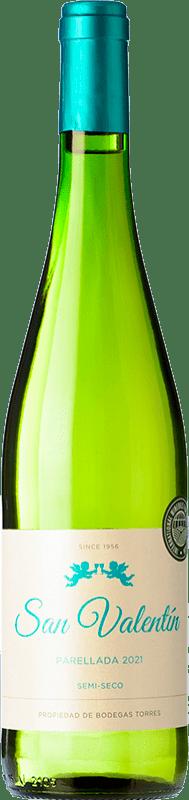 6,95 € | White wine Torres San Valentín D.O. Catalunya Catalonia Spain Parellada Bottle 75 cl