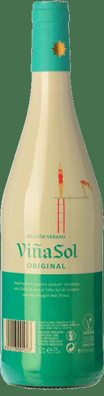 7,95 € Free Shipping | White wine Torres Viña Sol D.O. Penedès Catalonia Spain Parellada Bottle 75 cl