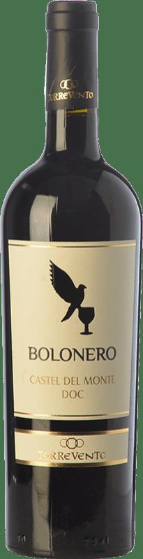 7,95 € Envío gratis | Vino tinto Torrevento Bolonero D.O.C. Castel del Monte Puglia Italia Aglianico, Nero di Troia Botella 75 cl