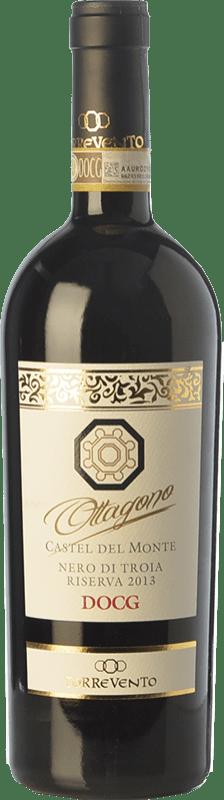 15,95 € 免费送货 | 红酒 Torrevento Riserva Ottagono Reserva D.O.C.G. Castel del Monte Nero di Troia Riserva 普利亚大区 意大利 Nero di Troia 瓶子 75 cl