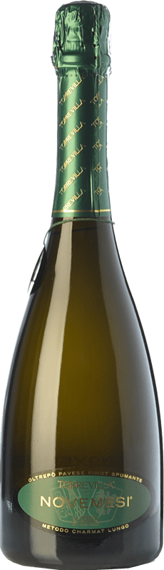9,95 € Free Shipping | White sparkling Torrevilla La Genisia Novemesi D.O.C.G. Oltrepò Pavese Metodo Classico Lombardia Italy Pinot Black Bottle 75 cl