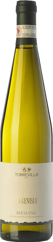 9,95 € Free Shipping | White wine Torrevilla La Genisia Riesling D.O.C. Oltrepò Pavese Lombardia Italy Riesling Renano, Riesling Italico Bottle 75 cl