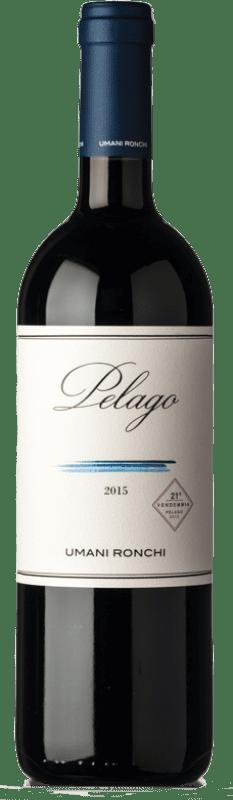33,95 € Free Shipping | Red wine Umani Ronchi Pelago I.G.T. Marche Marche Italy Merlot, Cabernet Sauvignon, Montepulciano Bottle 75 cl