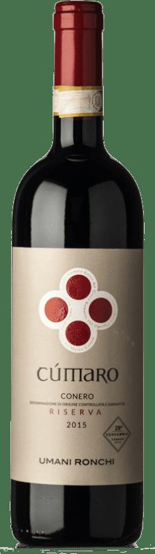 26,95 € Free Shipping | Red wine Umani Ronchi Rosso Riserva Cùmaro Reserva D.O.C.G. Conero Marche Italy Montepulciano Bottle 75 cl