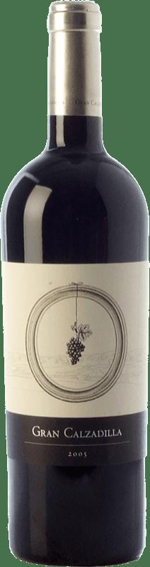 43,95 € Free Shipping | Red wine Uribes Madero Gran Calzadilla Crianza I.G.P. Vino de la Tierra de Castilla Castilla la Mancha Spain Tempranillo, Cabernet Sauvignon Bottle 75 cl