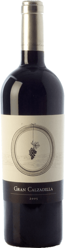 43,95 € Envío gratis | Vino tinto Uribes Madero Gran Calzadilla Crianza I.G.P. Vino de la Tierra de Castilla Castilla la Mancha España Tempranillo, Cabernet Sauvignon Botella 75 cl