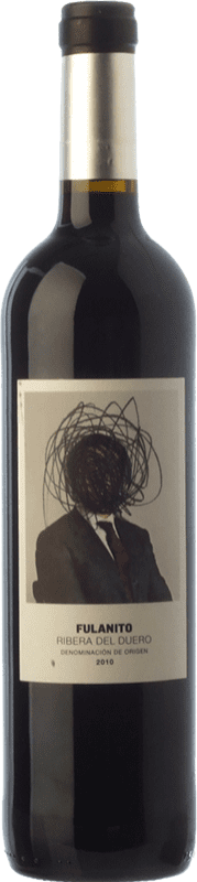 9,95 € Envoi gratuit | Vin rouge Uvas de Cuvée Fulanito Joven D.O. Ribera del Duero Castille et Leon Espagne Tempranillo, Merlot, Cabernet Sauvignon Bouteille 75 cl