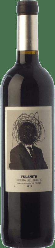 9,95 € Envío gratis | Vino tinto Uvas de Cuvée Fulanito Joven D.O. Ribera del Duero Castilla y León España Tempranillo, Merlot, Cabernet Sauvignon Botella 75 cl