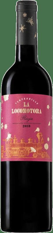7,95 € Free Shipping | Red wine Uvas Felices La Locomotora Joven D.O.Ca. Rioja The Rioja Spain Tempranillo Bottle 75 cl