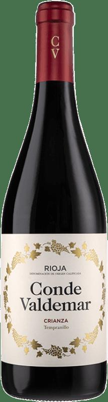 8,95 € Envoi gratuit | Vin rouge Valdemar Conde de Valdemar Crianza D.O.Ca. Rioja La Rioja Espagne Tempranillo, Mazuelo Bouteille 75 cl