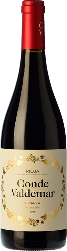8,95 € Envío gratis | Vino tinto Valdemar Conde de Valdemar Crianza D.O.Ca. Rioja La Rioja España Tempranillo, Mazuelo Botella 75 cl
