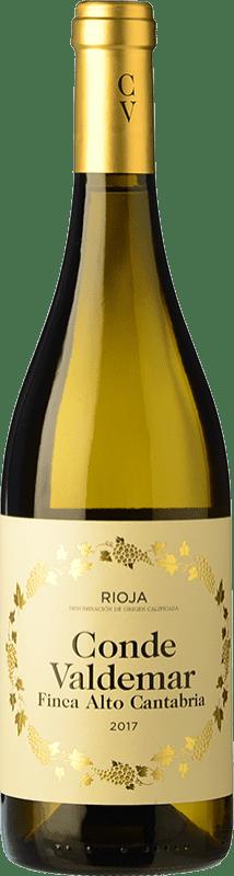 13,95 € 免费送货   白酒 Valdemar Conde de Valdemar Finca Alto Cantabria Crianza D.O.Ca. Rioja 拉里奥哈 西班牙 Viura 瓶子 75 cl