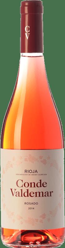 5,95 € 免费送货   玫瑰酒 Valdemar Conde de Valdemar Rosé Joven D.O.Ca. Rioja 拉里奥哈 西班牙 Tempranillo, Grenache 瓶子 75 cl