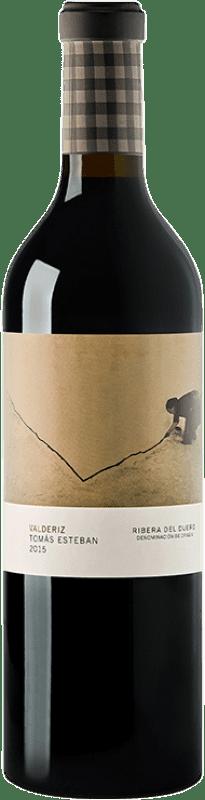 69,95 € Envío gratis | Vino tinto Valderiz Tomás Esteban Crianza 2009 D.O. Ribera del Duero Castilla y León España Tempranillo Botella 75 cl