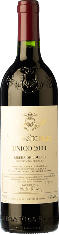 391,95 € 免费送货 | 红酒 Vega Sicilia Único Gran Reserva D.O. Ribera del Duero 卡斯蒂利亚莱昂 西班牙 Tempranillo, Cabernet Sauvignon 瓶子 75 cl
