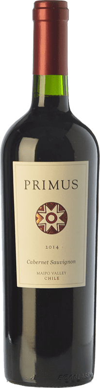 14,95 € Free Shipping | Red wine Veramonte Primus Crianza I.G. Valle del Maipo Maipo Valley Chile Cabernet Sauvignon Bottle 75 cl