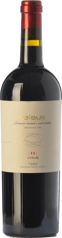 Free Shipping | Red wine Vetus Celsus Crianza 2014 D.O. Toro Castilla y León Spain Tinta de Toro Bottle 75 cl