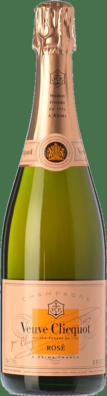 142,95 € Free Shipping | Rosé sparkling Veuve Clicquot Rosé Brut A.O.C. Champagne Champagne France Pinot Black, Chardonnay, Pinot Meunier Magnum Bottle 1,5 L