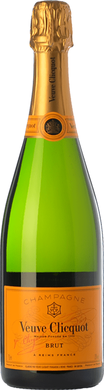 453,95 € Free Shipping | White sparkling Veuve Clicquot Yellow Label Brut A.O.C. Champagne Champagne France Chardonnay, Pinot Meunier Jéroboam Bottle-Double Magnum 3 L