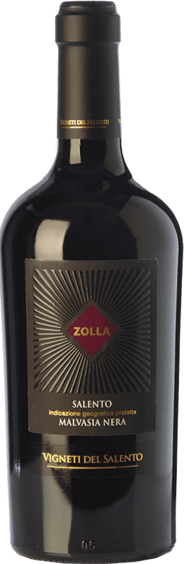 16,95 € 免费送货   红酒 Vigneti del Salento Zolla Malvasia Nera Zolla I.G.T. Salento 坎帕尼亚 意大利 Malvasia Black 瓶子 75 cl