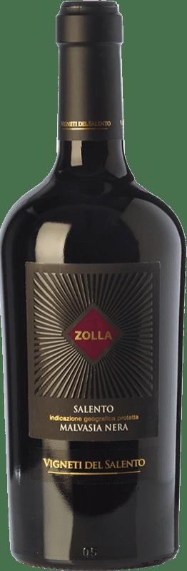 16,95 € Envío gratis | Vino tinto Vigneti del Salento Zolla Malvasia Nera Zolla I.G.T. Salento Campania Italia Malvasía Negra Botella 75 cl