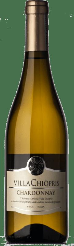 8,95 € Free Shipping | White wine Villa Chiòpris D.O.C. Friuli Grave Friuli-Venezia Giulia Italy Chardonnay Bottle 75 cl