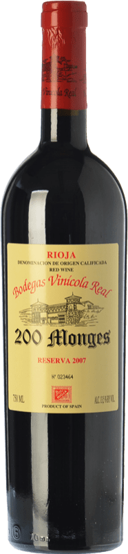 39,95 € Free Shipping | Red wine Vinícola Real 200 Monges Reserva D.O.Ca. Rioja The Rioja Spain Tempranillo, Graciano, Mazuelo Bottle 75 cl